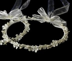 Greek Orthodox Wedding Crowns are a beautiful addition to your ceremony and wedding attire. These Stefana greek wedding crowns are available in both white and ivory. My Greek Wedding, Grecian Wedding, Double Wedding, Greek Wedding Traditions, Orthodox Wedding, Event Planning Tips, Wedding Planning, Ribbon Headbands, Wedding Events