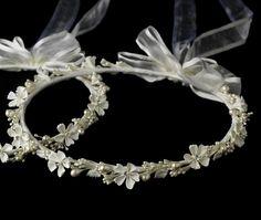 Flower & Pearl Greek Stefana Wedding Crowns RBH 8017
