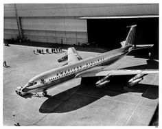 Boeing 707 of American Airlines. Brand new.