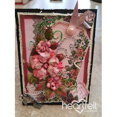 Pink Rose Tag Card