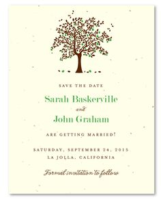 Apple Tree Wedding Save the Date cards