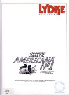 CRESPO, Enrique. Suite Americana nº1 para quinteto de metales. Lydke musikverlag. Alemania.