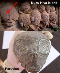 A small elongated alien looking skull was found in a cave in the Peruvian desert, non exact location of the find has been released yet