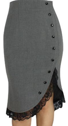 Grau Jahre Jahre Lace Ruffle Pencil Vintage Style 18 20 22 24 26 28 Retro NEW Rock - career Vintage Mode, Vintage Ladies, Retro Fashion, Vintage Fashion, Womens Fashion, Style Fashion, African Fashion Dresses, Fashion Outfits, Vintage Outfits