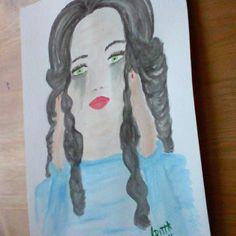 #buenastardes  desde #gijon  #asturias . Terminada. Me dijeron de acentuar las lágrimas, y ahí van... llenas de rimmel. Esta foto la dedico como un tributo a todas mis compañeras, y las que no lo son, pero si tienen #endometriosis . #acuarelas  #watercolor  #watercolour  #paint  #drawing  #illustration  #pintura  #arte  #art  #instaart  #paper  #impresionismo  #artecontemporaneo  Agradezco a las Asociaciones que luchan porque se reconozca y mando mucha fuerza.