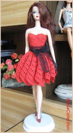 Baby Knitting Patterns, Doll Patterns, Crochet Barbie Clothes, Barbie Dress, Barbie And Ken, Chrochet, Crochet Fashion, Mode Style, Crochet Baby