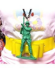 Toy Soldier Necklace(type-E) Green. See more at http://www.cdjapan.co.jp/apparel/brokendoll.html #harajuku #BrokenDoll