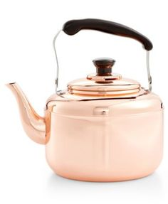 Martha Stewart Collection Heirloom Copper Tea Kettle, Only at Macy's  | macys.com