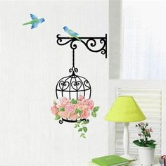 Super Deal Wall Sticker Creative Floral Stickers Decorative Mural Child Rooms adesivo de parede vinilos paredes HYM02