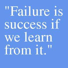 Motivation Picture Quote Failure and Success