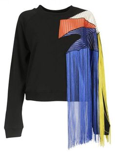 CHRISTOPHER KANE Christopher Kane Fringe Sweater. #christopherkane #cloth #fleeces-tracksuits