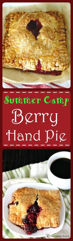 Summer Camp Berry Hand Pie is the juicy, bubbling, combination of freshly picked raspberries and blackberries, with a squeeze of lemon and sugar inside a golden brown pastry crust. Click to read more or pin & save for later!