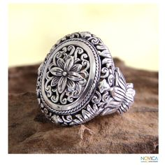 Sterling Silver 'Precious Lotus' Ring (Indonesia) - Overstock™ Shopping - Great Deals on Novica Rings