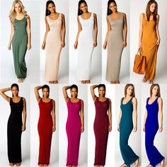 Cheap womens fancy dress, Buy Quality dress up baby s directly from China women dresses clearance Suppliers: New Sexy Women Long Dress Solid Round Neck Sleeveless Ankle Length Summer Basic Maxi Dress vestidos femininos longos Green Tank Dress, Dress Up, Casual Summer Dresses, Sexy Women, Fashion Dresses, Clothes For Women, Sexy Body, Vest, Elegant