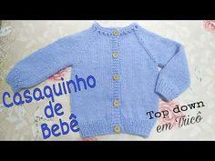 Casaquinho de Bebê (top down) em Tricô | Ana Alves - YouTube