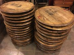 raw bourbon barrel heads mmmm the smell!