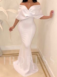 Cross Over Neck Fishtail Evening Dress buying fashion dresses & rapid delivery. Start your amazing deals with big discounts! Elegant Dresses, Beautiful Dresses, Formal Dresses, African Fashion Dresses, African Dress, African Style, Mode Outfits, Fashion Outfits, Trend Fashion
