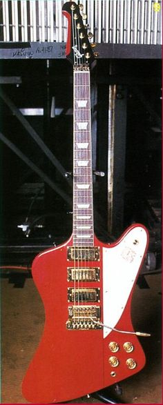 The late Steve Clark's of Def Leppard..custom Gibson Firebird with Kahler trem......