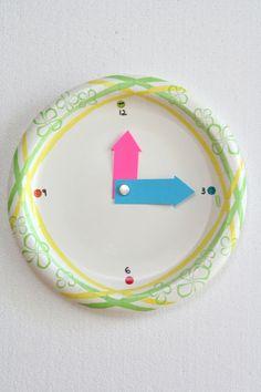 First Grade Math Activities: Make a Clock!