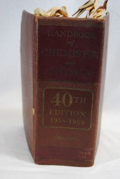 Rare Vintage Chemistry book. From the library of Philo T. Farnsworth still has his notes inside.