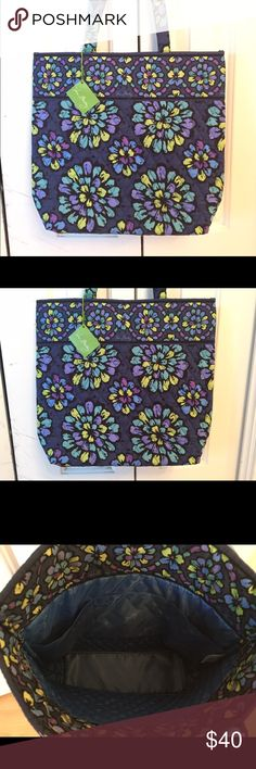NWT Vera Bradley Large Tote Indigo Pop Brand New with Tags VERA BRADLEY Large Tote in retired pattern INDIGO POP.  Got as a gift and I already have it! Funny is that my Sister bought it for me ...TWICE...not remembering she had already bought it. HAHA!  She knew that this is my fave pattern.  Has Snap Closure and a couple of pockets on inside to hold Cell Phone or Lipstick etc. Any questions, please ask.  No Trades Please and Price is Firm. I try to make my prices as low as I can go so that…