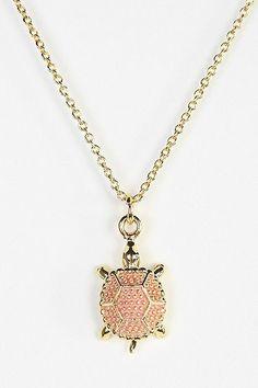 Delta Zeta - Pink Turtle Necklace