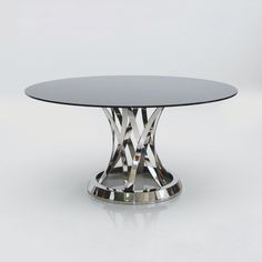 Mobital DTA-CHIS-STEE-ROUND Chiso Round Dining Table - Home Furniture Showroom