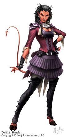 Tales of Arcana Devilkin Female by MiguelRegodon