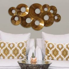 Stratton+Home+Decor+Layered+Circles+Metal+Wall+Decor