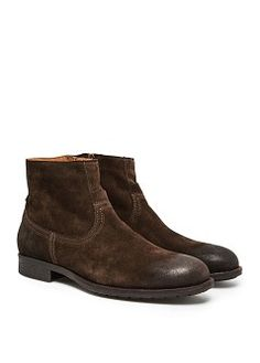 HE by MANGO - ZIPPED SUEDE ANKLE BOOTS #FW13 #MENSWEAR
