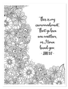 Free printable christian, religious adult coloring sheets w/ bible verses. Bible Verse Coloring Page, Colouring Pages, Adult Coloring Pages, Coloring Sheets, Printable Coloring Pages, Coloring Books, Free Coloring, Scripture Art, Bible Verses