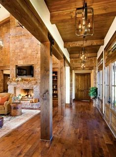 My dream! The floors the beams the ceiling and the fireplace??? Omg please let me win the lottery