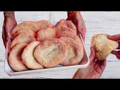 YouTube Easy Cake Recipes, Sweets Recipes, Appetizer Recipes, Great Recipes, Cookie Recipes, Beignets, Fried Bread Recipe, Puff Pastry Appetizers, Bread Machine Recipes