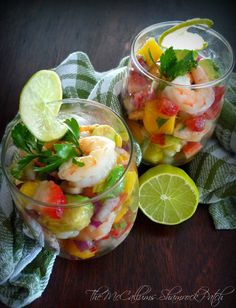 Easy Shrimp Ceviche with Mango Pineapple & Avacado