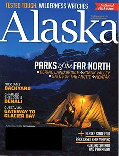 Alaska:   Alaska: the magazine about life on the last frontier.  Discover the people, places and personality.  Enjoy breath-taking photography.  See how pioneer grit, frontier independence, and Native American lifestyles have influenced today's Alaska.  For dreamers, adventurers, sportsmen or travelers---get to know what's going on in Alaska and how to enjoy this fabulous state to the fullest.   Published 10 times per year.