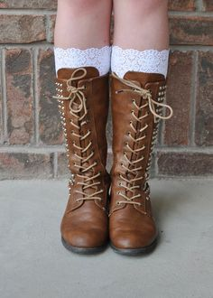 Lace Boot Cuffs Faux Lace Boot Socks Faux Lace by RLeeCouture