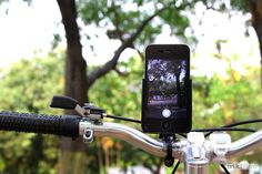 Love biking and your iPhone? Learn how to make a bike iPhone holder! #DIY #fitness #music #hack