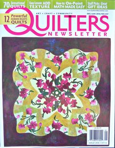Quilters Newsletter Magazine December/January by CurlicueCreations