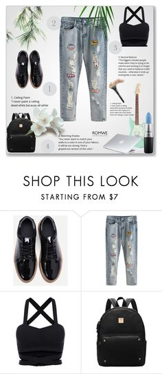 """""""Romwe 2/10"""" by smajicelma ❤ liked on Polyvore featuring MAC Cosmetics and Dyson"""