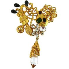 Shop diamond and pearl brooches and other antique and vintage brooches from the world's best jewelry dealers. Statement Jewelry, Charm Jewelry, Jewelry Box, Jewellery, Vintage Brooches, Vintage Jewelry, Christian Lacroix, Jewelry Design, Designer Jewelry