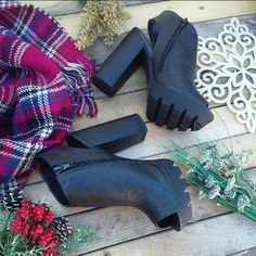 Winter grunge cut out booties Brand new Never been worn Comes in it original box Price firm  No trades Shoes
