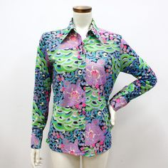 1970s Button Print Shirt now featured on Fab.
