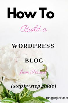 Wondering how to start a blog in 2020? This step by step tutorial will help you build your own stunning blog in minutes #blogging Build A Blog, Make Blog, How To Start A Blog, What Is A Blog, First Blog Post, Making Extra Cash, Cool Writing, Creating A Blog, Make Money Blogging