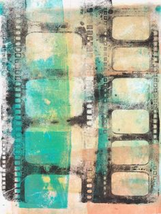 Free printable. Gelli Arts Printing Plate, Studio Line Paint by Claudine Hellmuth, stencil.