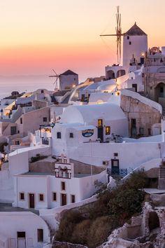 Oia at Sunset - Santorini, Greece