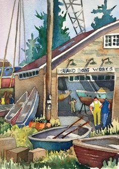 Whidbey Island, Watercolors, Architecture, Painting, Artists, Art, Arquitetura, Water Colors, Painting Art
