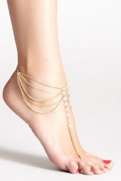 Anklets Delicious Ankle Bracelet Crystal Anklet India Traditional Silver Tone Sea Barefoot Jewelry
