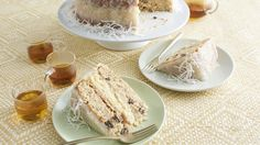 30 Vintage Cakes from the South That Deserve a Comeback Japanese Fruitcake with Lemon-Coconut Frosting Frosting Recipes, Cake Recipes, Dessert Recipes, Party Recipes, Cupcakes, Cupcake Cakes, Food Cakes, Baking Cakes, Holiday Desserts