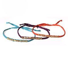 d i y friendship bracelets   Brass Friendship Bracelets Bead Woven Bracelet door NauticalWheeler
