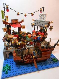 Lego Minifigure Display, Lego Display, Lego Ninjago City, Lego City, Amazing Lego Creations, Lego System, Legos, Lego Lego, Lego Mecha